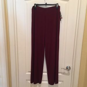 Alfani Cranberry Colored Wide Leg Pants